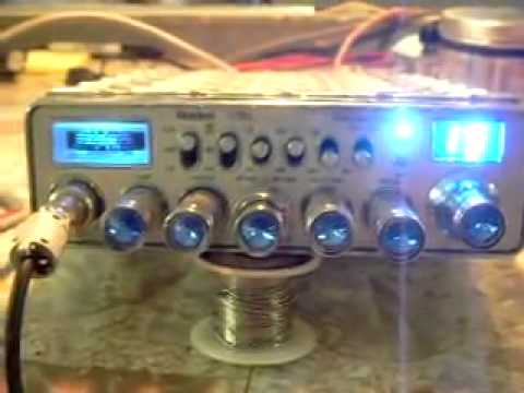 UNIDEN 78 XL MOSFET, BLUE JEWLED KNOBS KNOBS, BLUE METER LIGHT, TX RX. DISPLAYS CHANGED OUT
