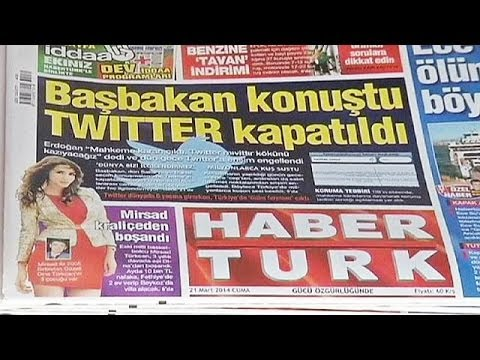 Turkey's president slams Twitter ban as