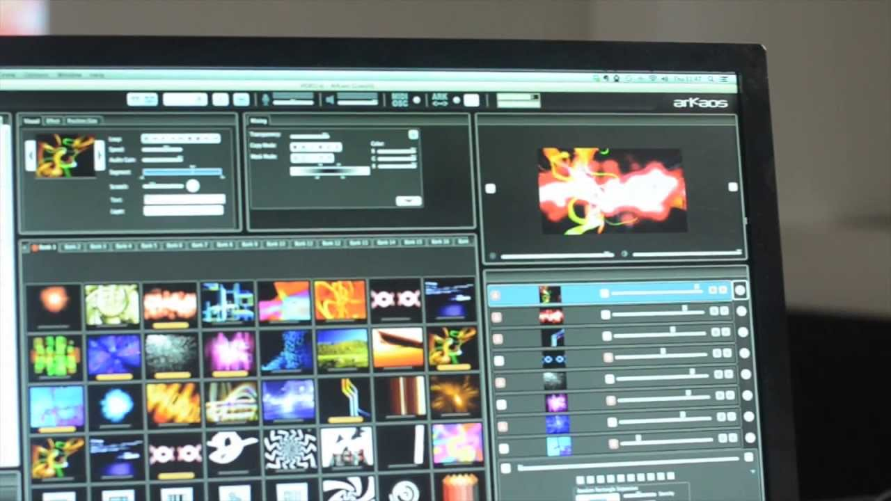 Eight channels vj software for real time hd video mixing youtube