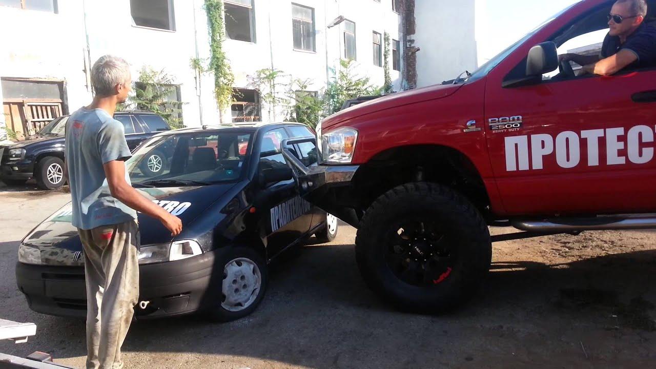 Iamatuning front bumper crash test. :)(2) - YouTube