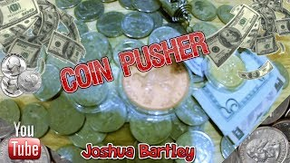 """Coin Pusher """"Beating The Odds""""! How We Turned $2 into $30 with Extras!!"""