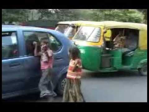 India Poverty And begging Children