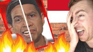 Bule Gila REAKSI Ke Prabowo Vs Jokowi - Epic Rap Battle Of Presidency (LUAR BIASA)