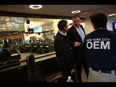 Mayor Bill de Blasio Updates New Yorkers on Winter Storm Hercules