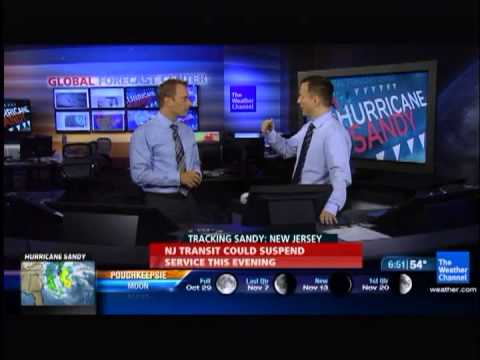 Hurricane Sandy Weather Channel Coverage Clip 5 Overnight