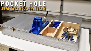 How to make a  Pocket Hole Jig Workstation With Storage