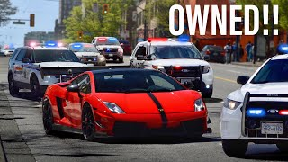 COPS MESSING WITH THE WRONG LAMBORGHINI DRIVER!! *UNLAWFUL*