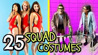 25 DIY Group Halloween Costumes! BFF, Squad, Duo & Best Friend Costume Ideas for 2017!
