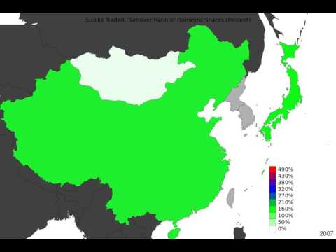 East Asia - Stocks Traded, Turnover Ratio Of Domestic Shares - Timelapse