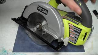 Ryobi Circular Saw Review and Demo | How to use Ryobi Circular Saw | Left Handed Circular Saw