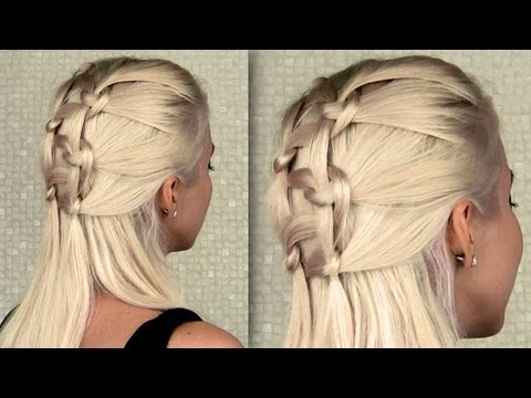 Intricate double knotted braid
