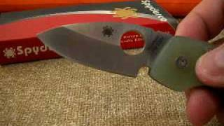 Coltello SPYDERCO LEAFSTORM Design by K.Wilkins. Folder Knife
