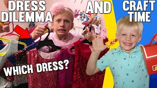 Alyssa's Dress Dilemma, Cute DIY Barn & Voice Recital || Mommy Monday