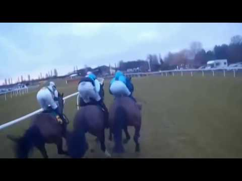 Exclusive 'Jockey Cam' footage of Victoria Pendleton unseating on Pacha Du Polder earlier