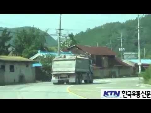 [한국유통신문.com] 국도를 질주하는 난폭운전 대형트럭행렬, 어디로 가나?-구미시-2016년 8월 11일