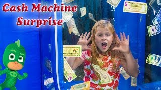 Assistant enters the Cash Machine Vault  Surprise with PJ Masks and Paw patrol and Vampirina