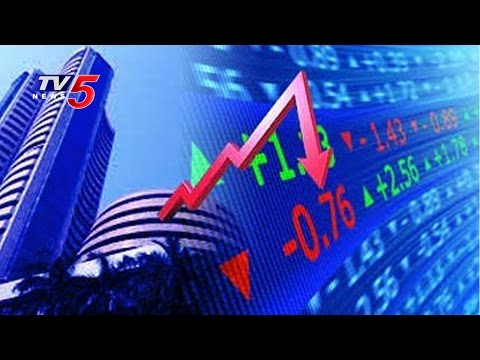 World Crude oil Prices Down to 2009 Lows   Major Fall in Sensex Points : TV5 News
