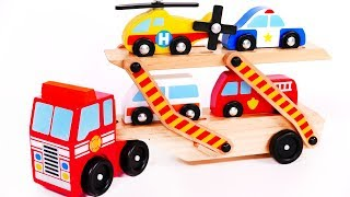 Car Transporter and Toy Vehicles for Children Learn your Colors