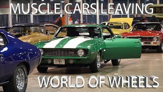 1 Hour of LOUD Muscle Cars Leaving Autorama World of Wheels Chicago Car Show 2019 [4K]