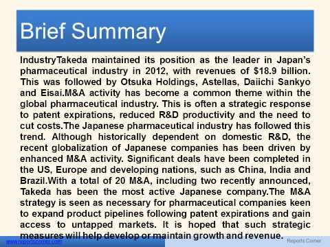 Japan Pharmaceutical Market Outlook  - Reports Corner