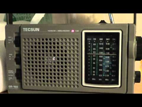 China Radio International via Albania on 6020 Khz with Tecsun GR 168 emergency radio
