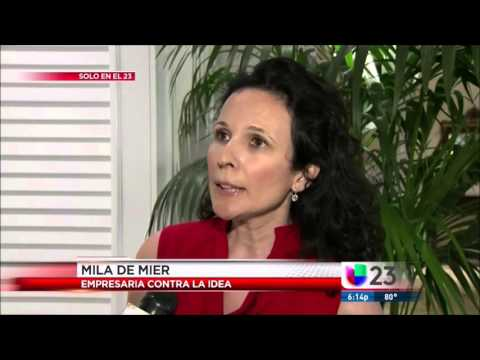 Univision TV reports Opposition of GM mosquito release