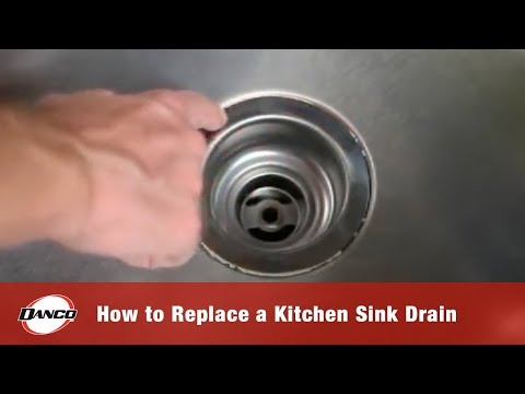 How to Replace a Kitchen Sink Drain - YouTube