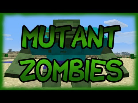 Minecraft Mods - MUTANT ZOMBIES MOD! SCARY!! [1.4.2]
