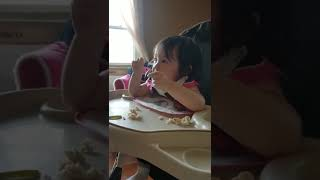15 month baby girl snaps finger when music is on