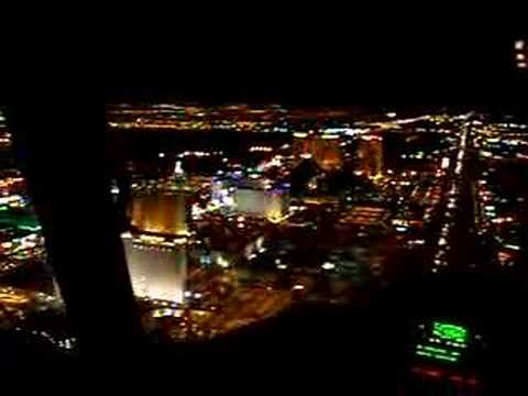 las vegas strip at night pictures. Flying over Las Vegas Strip at