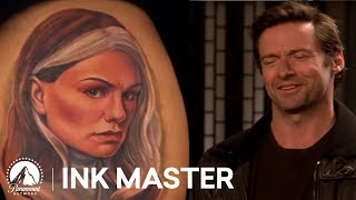 Top 5 Moment of Ink Master, Season 4: Hugh Jackman Judges Dueling Wolverine Tattoos