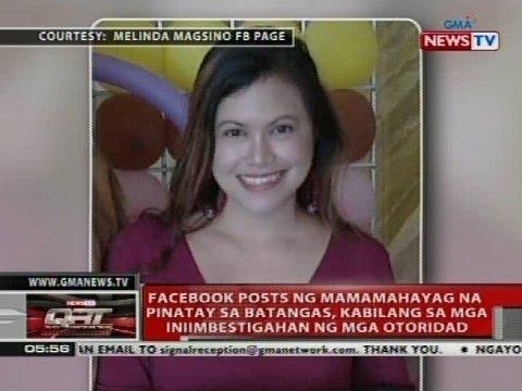 Facebook post ng mamamahayag na pinatay sa Batangas, kabilang sa mga iniimbestigahan ng mga otoridad