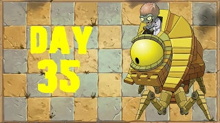 Plants vs Zombies 2 - Ancient Egypt - Day 35 BOSS [Zombot Sphinx-inator 2.0] No Premium