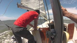 Dale and Dwight Gerber sailing