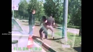 Драки на дорогах 2015  Fighting on the roads in 2015