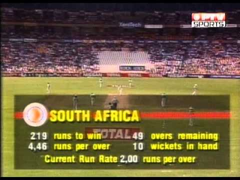 ** Rare  ** Pakistan vs South Africa 7th ODI -1993 Total Series Centurion