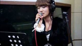 (old video) 091211 윤하 (Younha) - 오늘 헤어졌어요 (Broke Up Today)