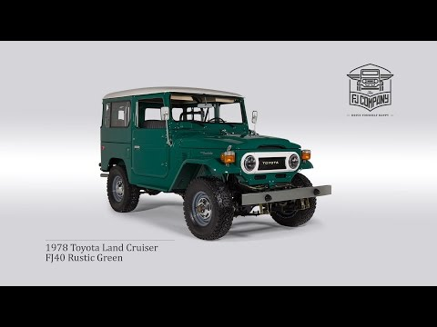 1978 Toyota Land Cruiser FJ40 Rustic Green Restoration Process FullHD