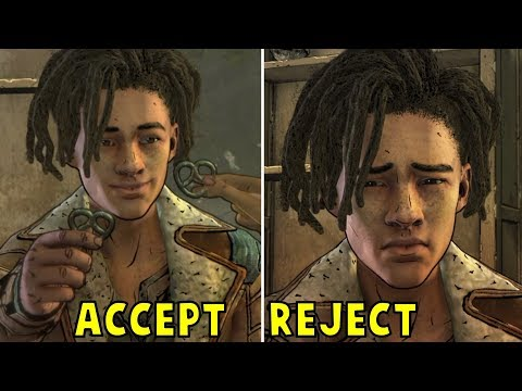 Clementine Accepts vs Refuses To Date Louis -All Choices- The Walking Dead Final Season Episode 3