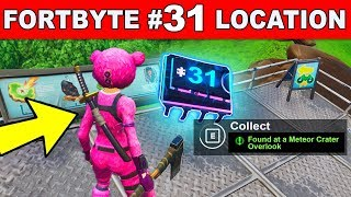 FOUND AT A METEOR CRATER OVERLOOK - Fortnite Fortbyte #31 Location Guide
