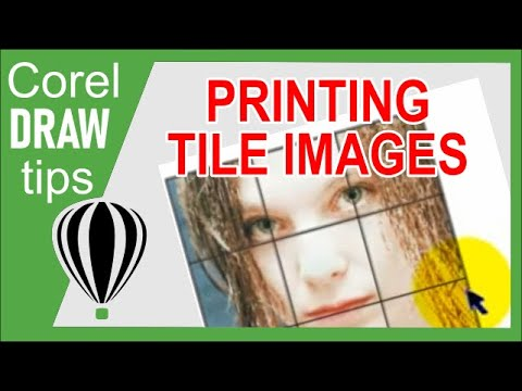 Printing tile images in CorelDraw X3
