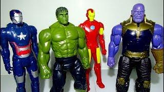 Go Marvel Hulk Toy, Iron Man Toys, Battle And Defeat Thanos Toy and Dinosaur Toy! - LotsMoreToys