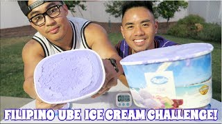 FILIPINO UBE ICE CREAM CHALLENGE! FILIPINO DESSERT