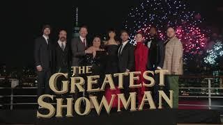The Greatest Showman NYC World Premiere || Cast Photo and Fireworks Display || SocialNews.XYZ