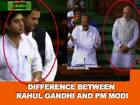 Difference Between Rahul Gandhi and Prime Minister Narendra Modi