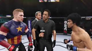 """UFC BRUCE LEE vs. CAPTAIN AMERICA  """" CHRIS EVANS ! EA SPORTS UFC2"""