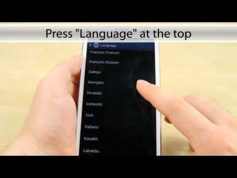 How to change language on the Samsung Galaxy Note 2