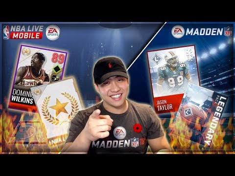 FIRE MADDEN MOBILE & NBA LIVE MOBILE 18 LEGENDARY BUNDLE OPENING!! TOO MUCH HEAT!!