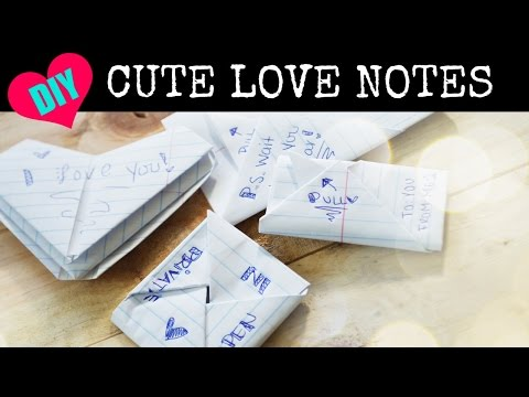 How to FOLD Cute Notes for Your BFF