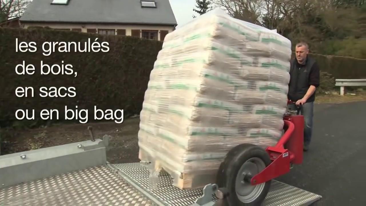 Livraison palette bois de chauffage, pellets, granulés YouTube # Granulés Bois Total